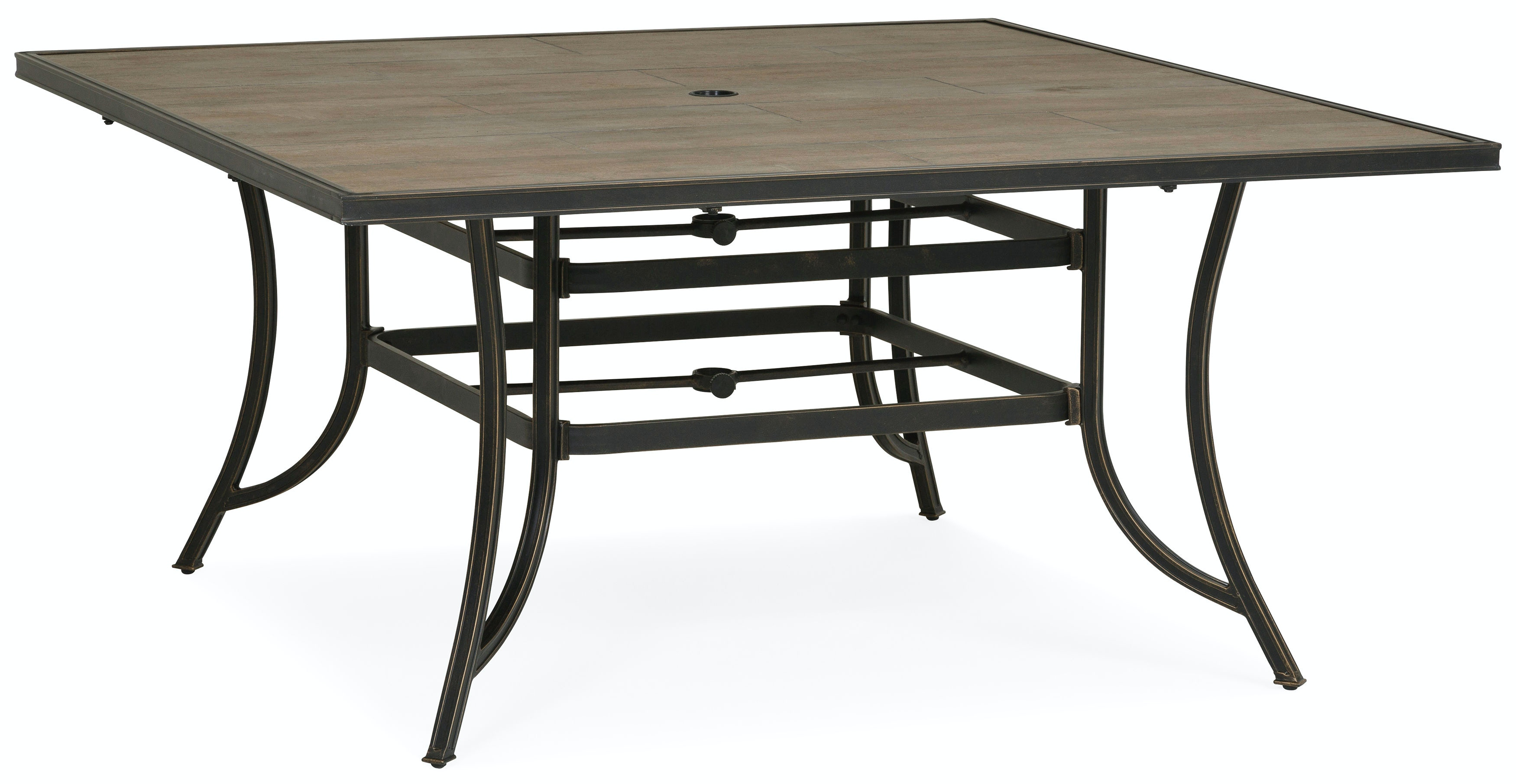 Sonora Outdoor Square Dining Table   TOBACCO TILE ST:476675
