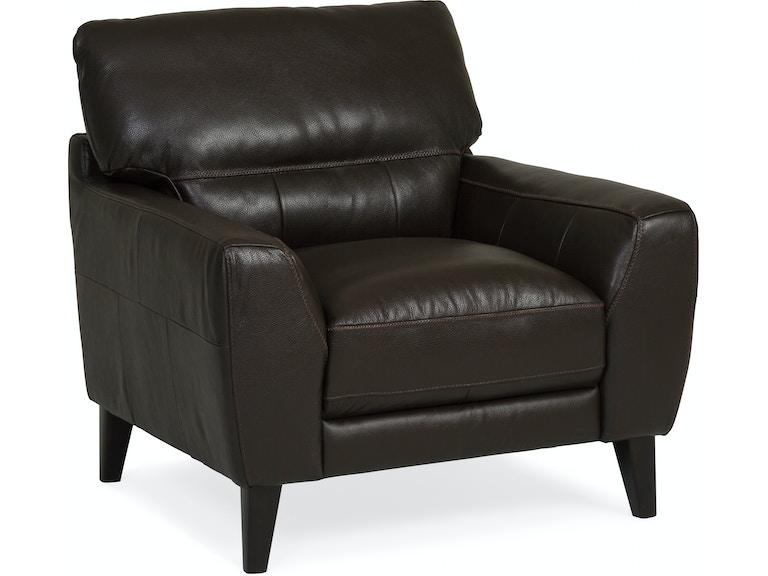 Bari Leather Chair Dark Brown St 476863