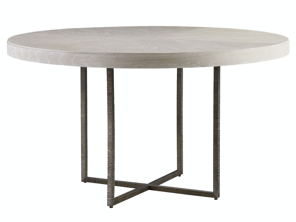 Dining room modern quartz robards round dining table for Quartz top dining table