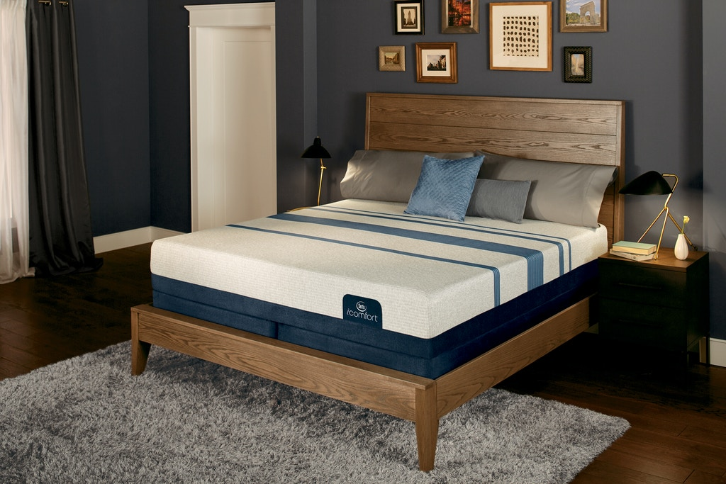 Serta IComfort Blue 300 Firm Mattress With Motion Perfect III Adjustable Base