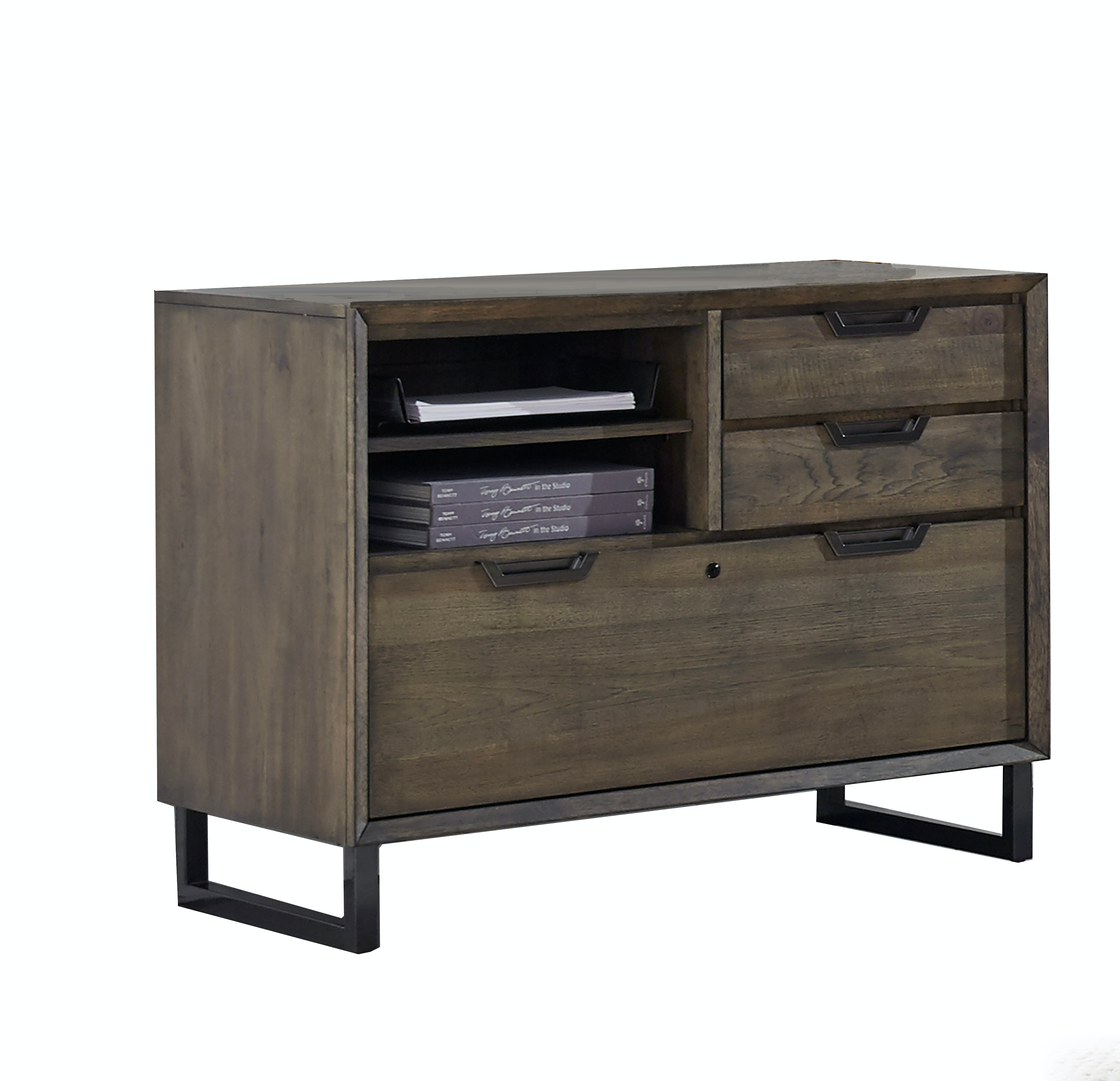 Home Office Harper Point Combo File Cabinet - Fossil