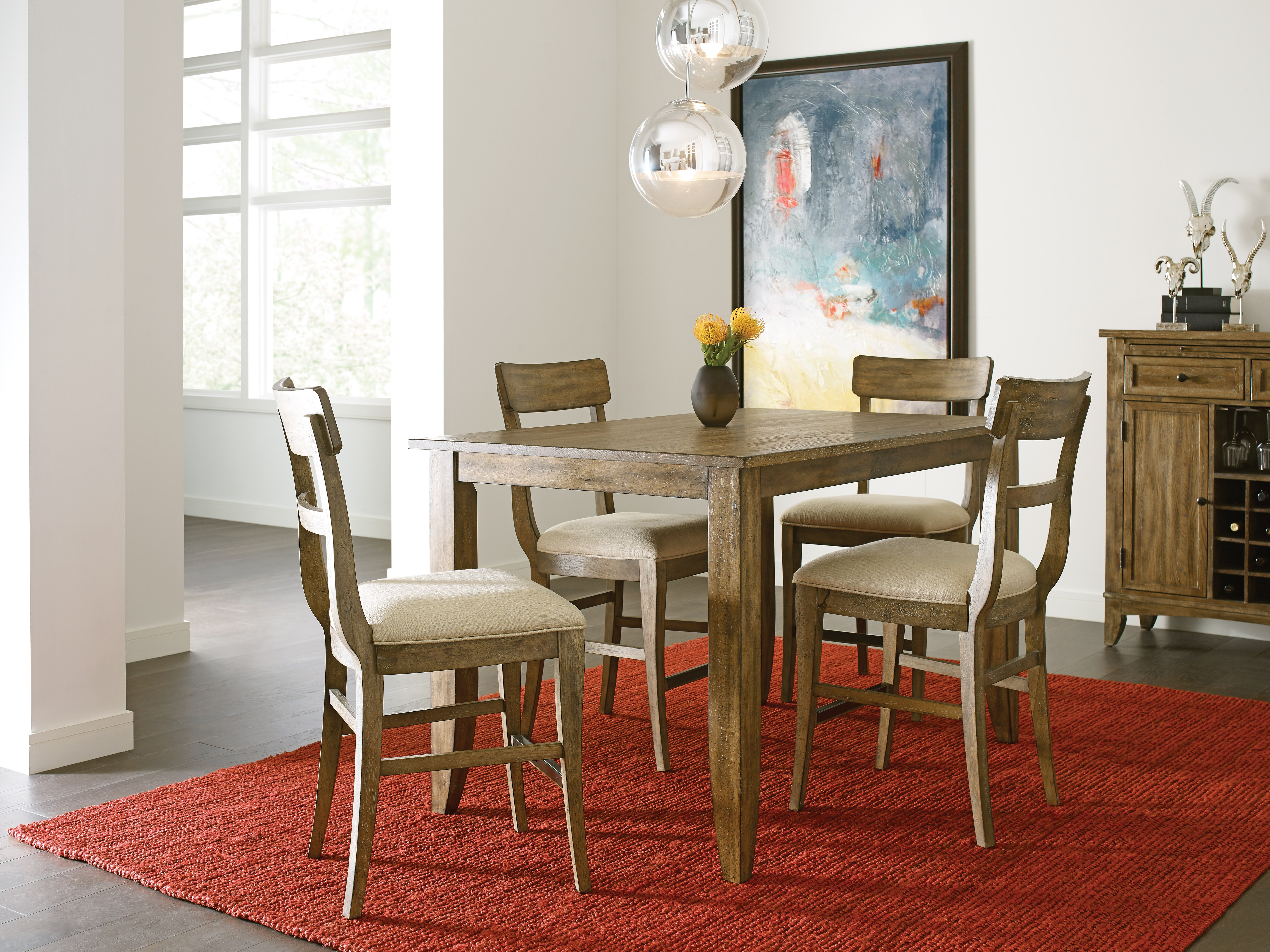 The Nook Oak Counter Height Leg Table ST:486394