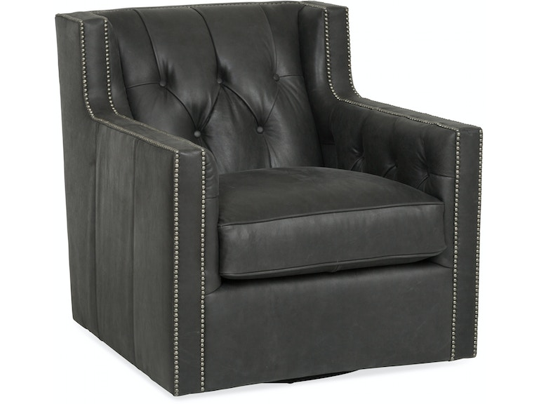 Living Room Candace Leather Swivel Chair