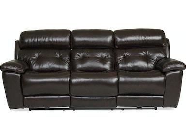 Georgia Leather Reclining Sofa Mahogany