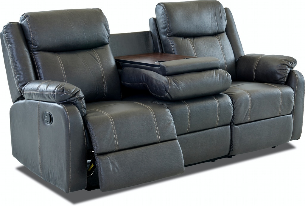 Bingo Reclining Sofa With Drop Down Table Carbon St 499595