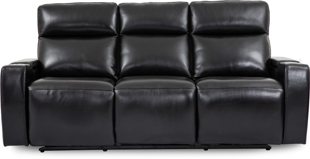 Wizard Leather Reclining Sofa With Drop Down Table St 499959