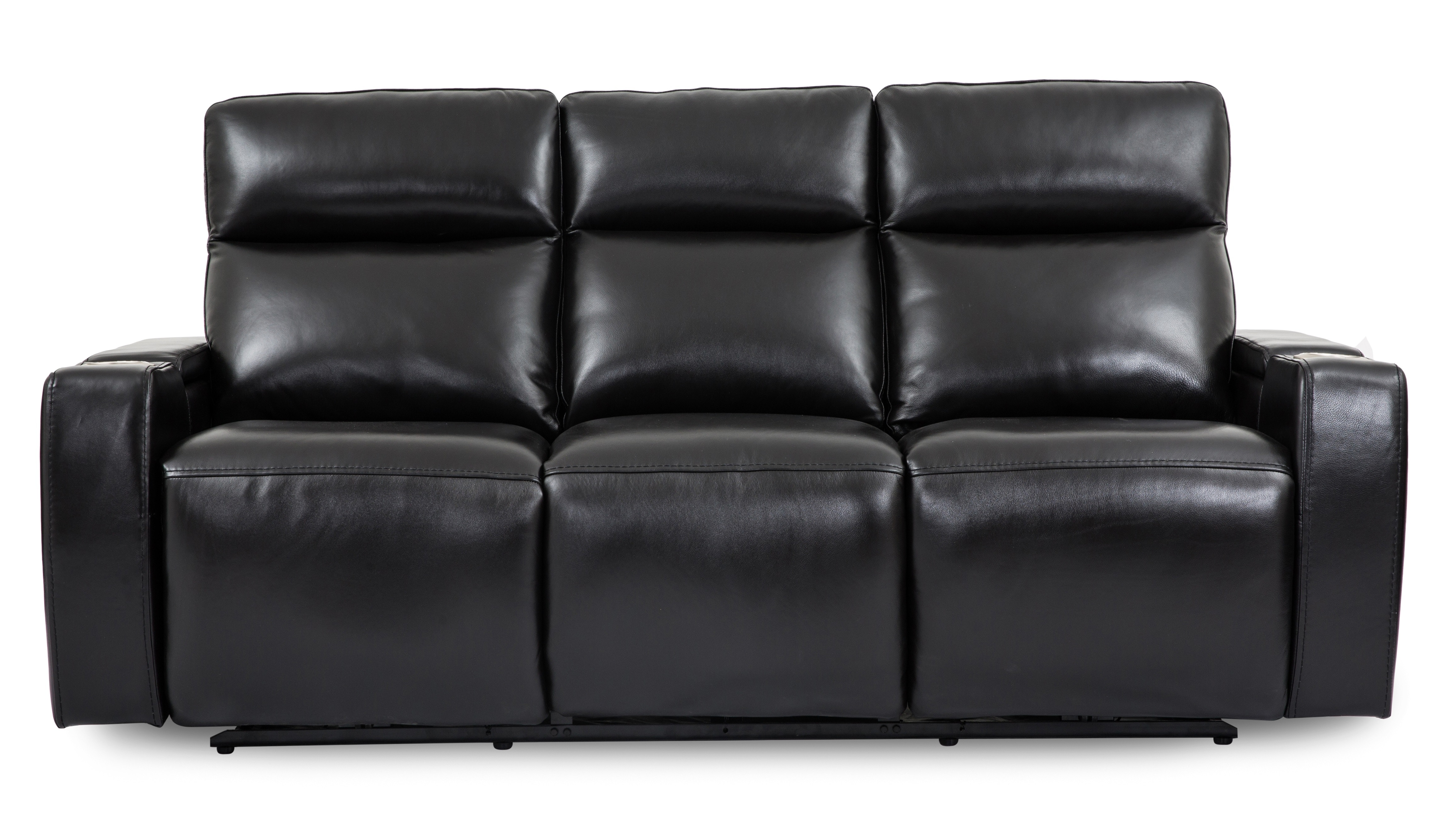 Wizard Leather Power Reclining Sofa With Drop Down Table ST:499959