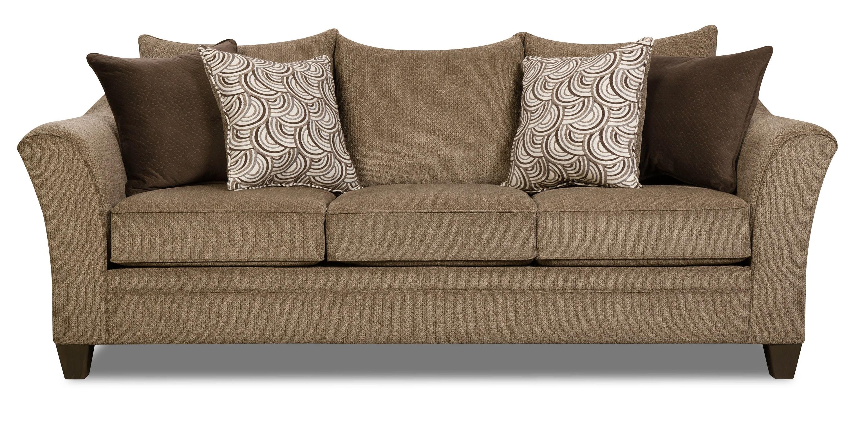 Delightful Albany Queen Sleeper Sofa   TRUFFLE