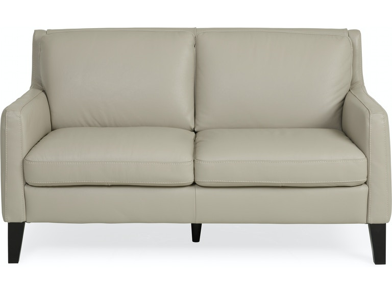 Verona Leather Loveseat Ivory St 508270