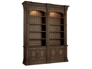 Rhapsody Double Bookcase w/out ladder & rail