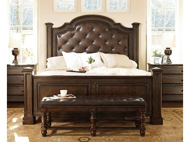 Normandie Manor Leather Bed