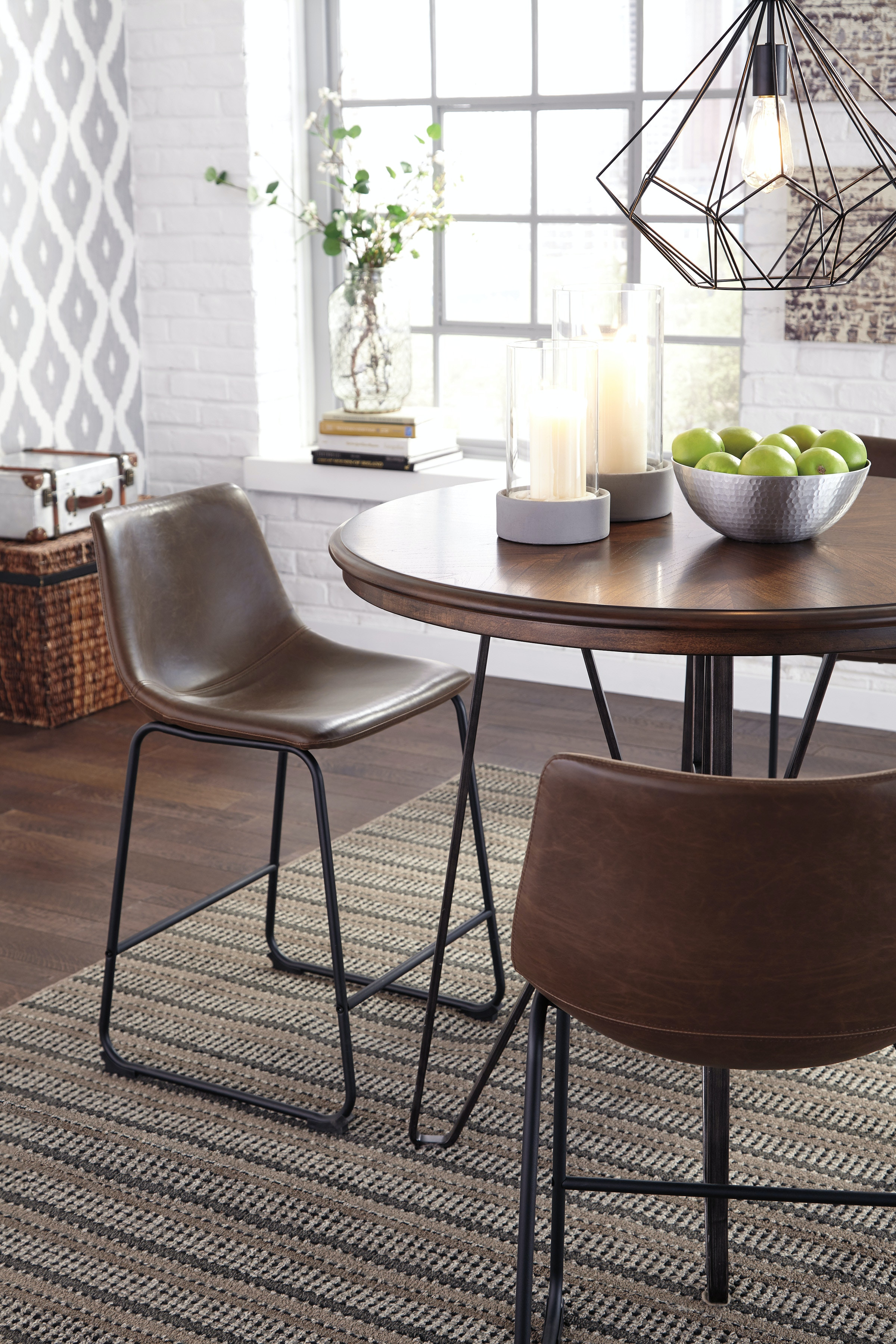 carter counter height dining table and barstools gpd498