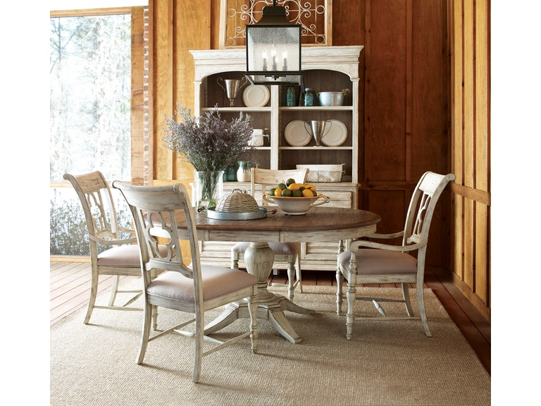 Weatherford 5-Piece Dining Room Set: includes Round Table & 4 Side ...