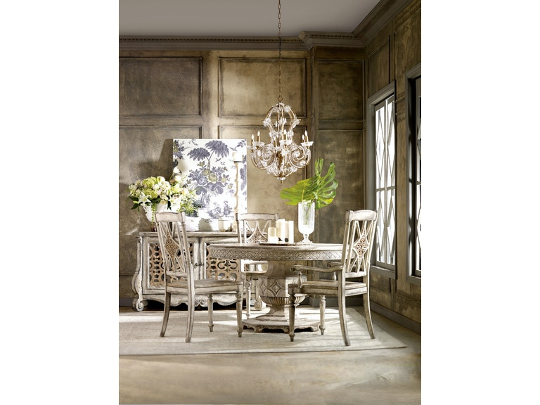 Chatelet 5-Piece Dining Room Set: includes Round Table & 4 ...