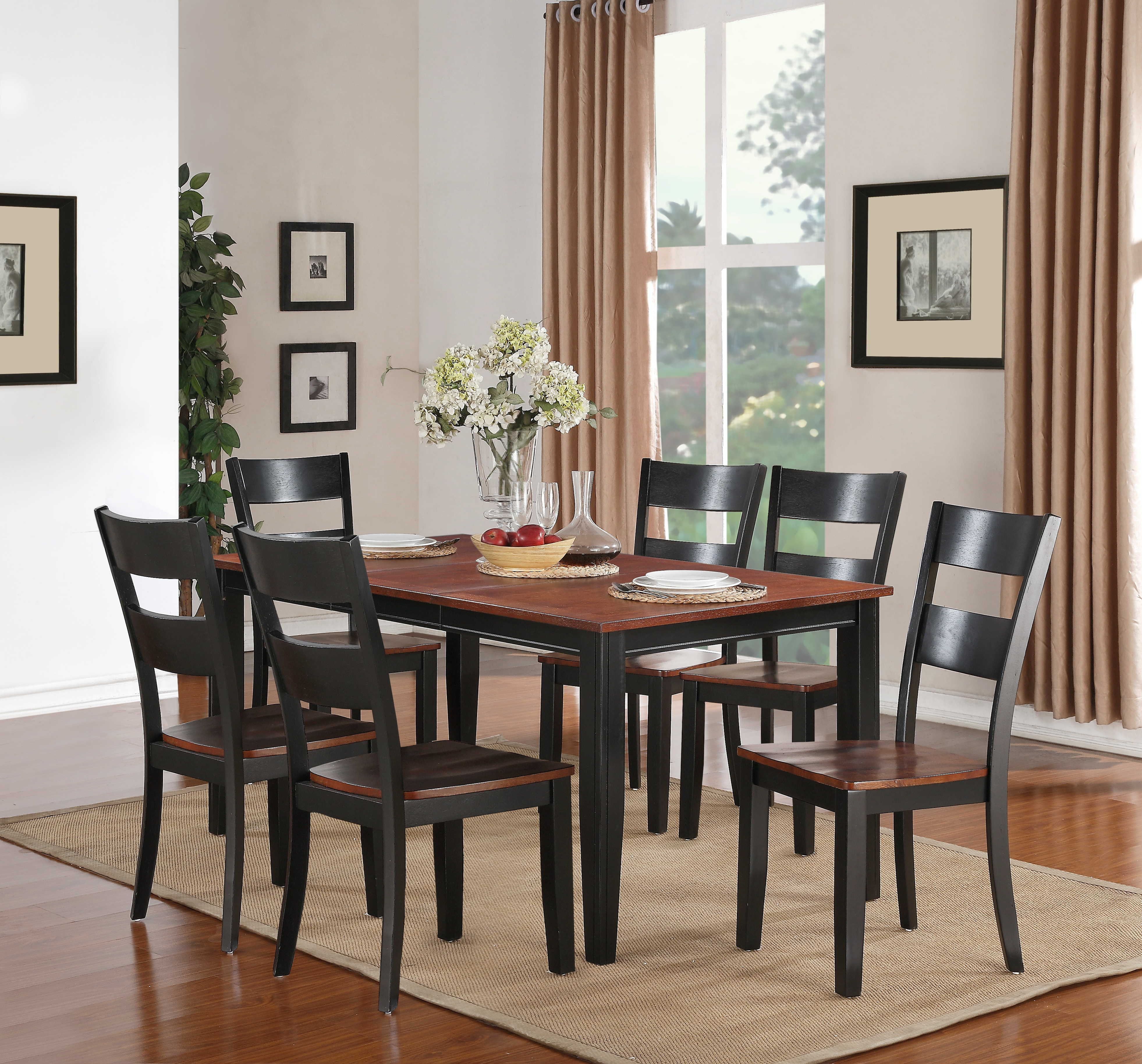 Madera 5 Piece Dining: Includes Rectangle Table U0026 4 Side Chairs   CARMEL/
