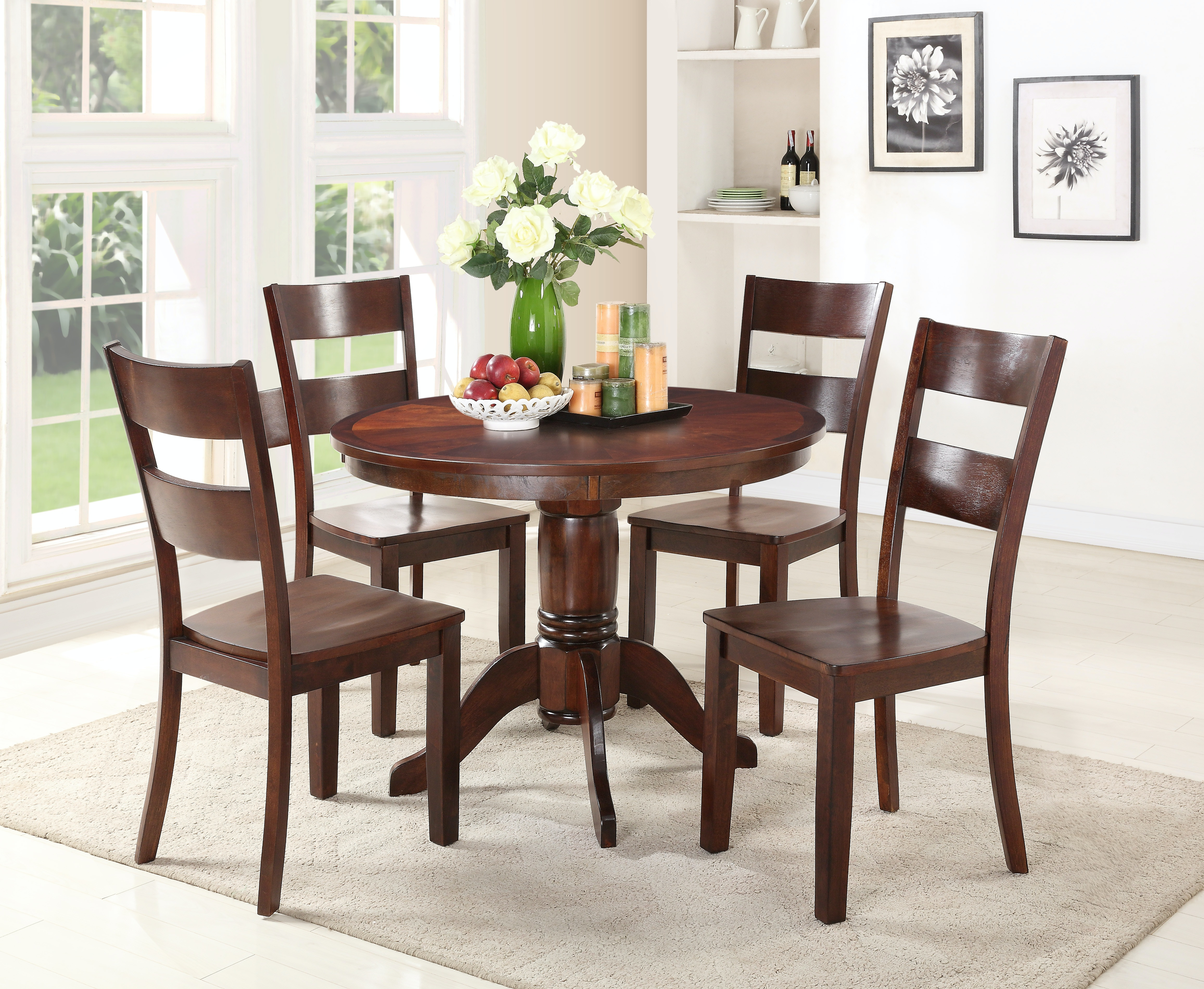 Madera 5-Piece Dining includes Round Table \u0026 4 Side Chairs - ESPRESSO & Dining Room Dining Room Sets - Star Furniture TX - Houston Texas