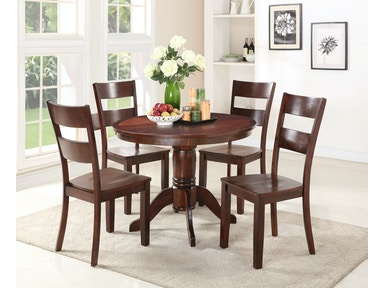 Madera 5 Piece Dining Includes Round Table 4 Side Chairs