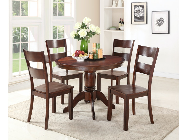 Dining Room Madera 5-Piece Dining: includes Round Table & 4 Side ...