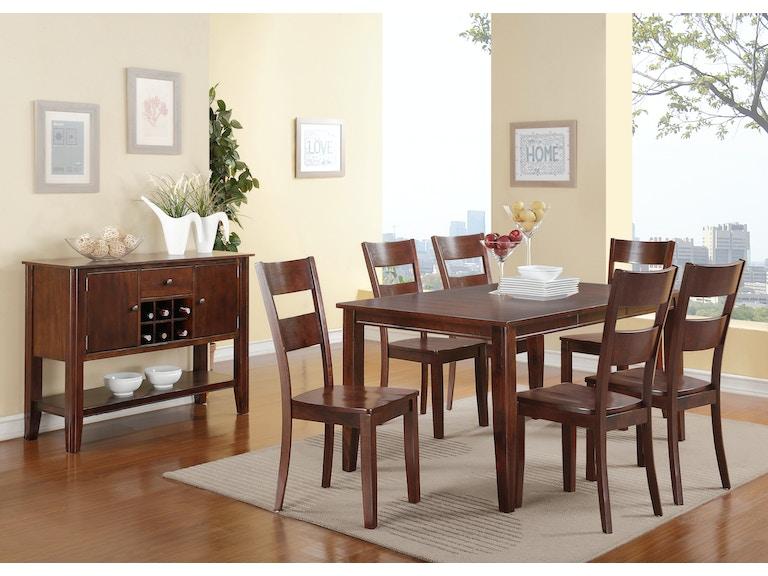 Dining Room Madera 5-Piece Rectangle Dining Set - ESPRESSO