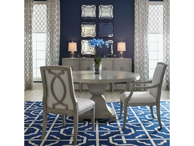 Criteria 5 Piece Dining Room Set Includes Round Table 4 Upholstered Back Side Chairs