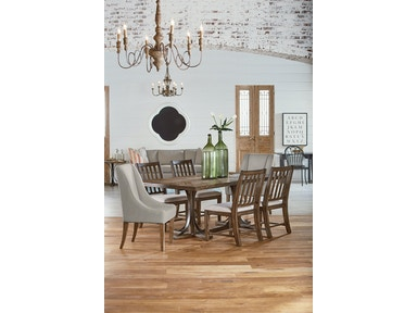 Magnolia Home Trestle 5 Piece Dining Set