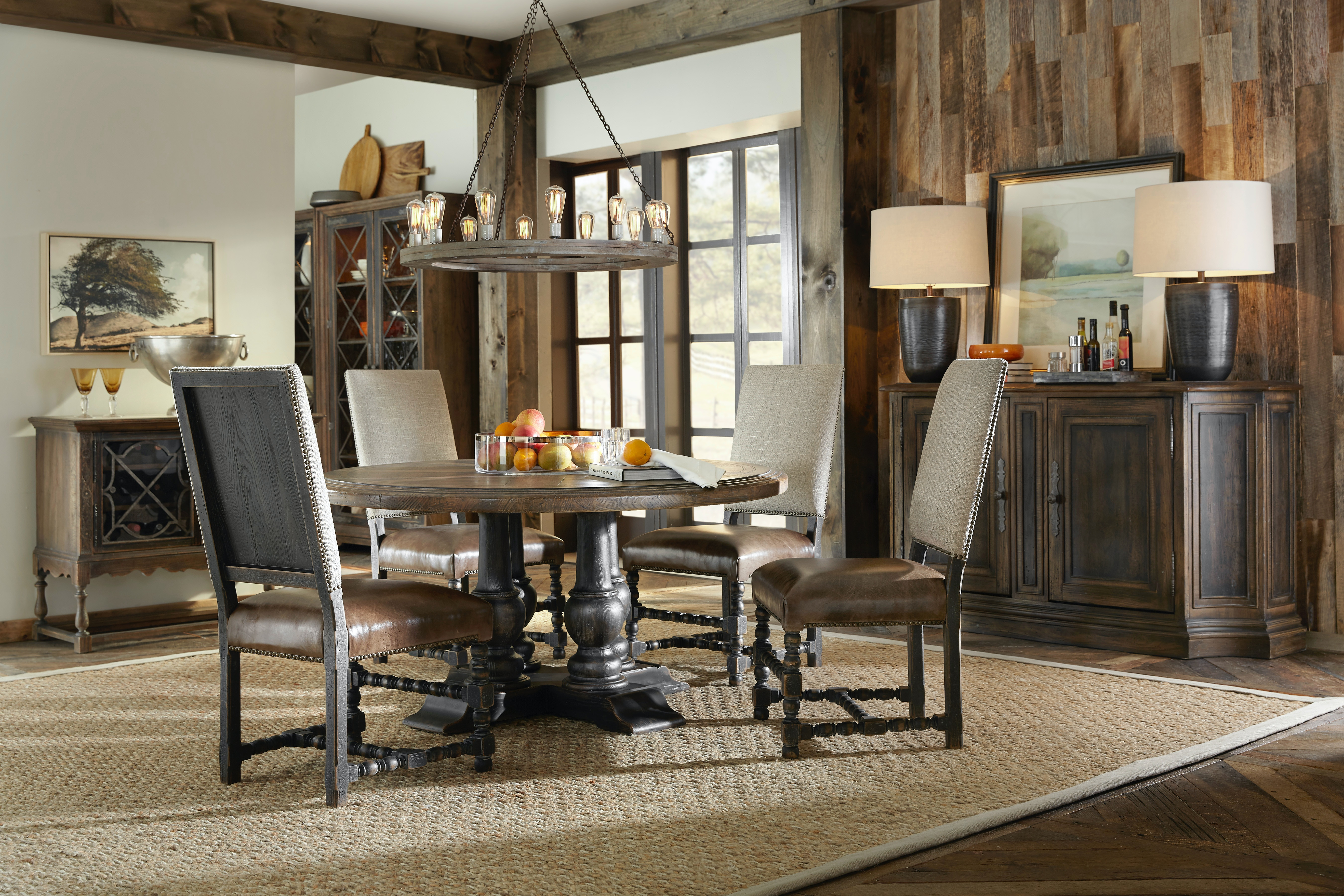 Hill Country 5 Piece Round Dining Room Set