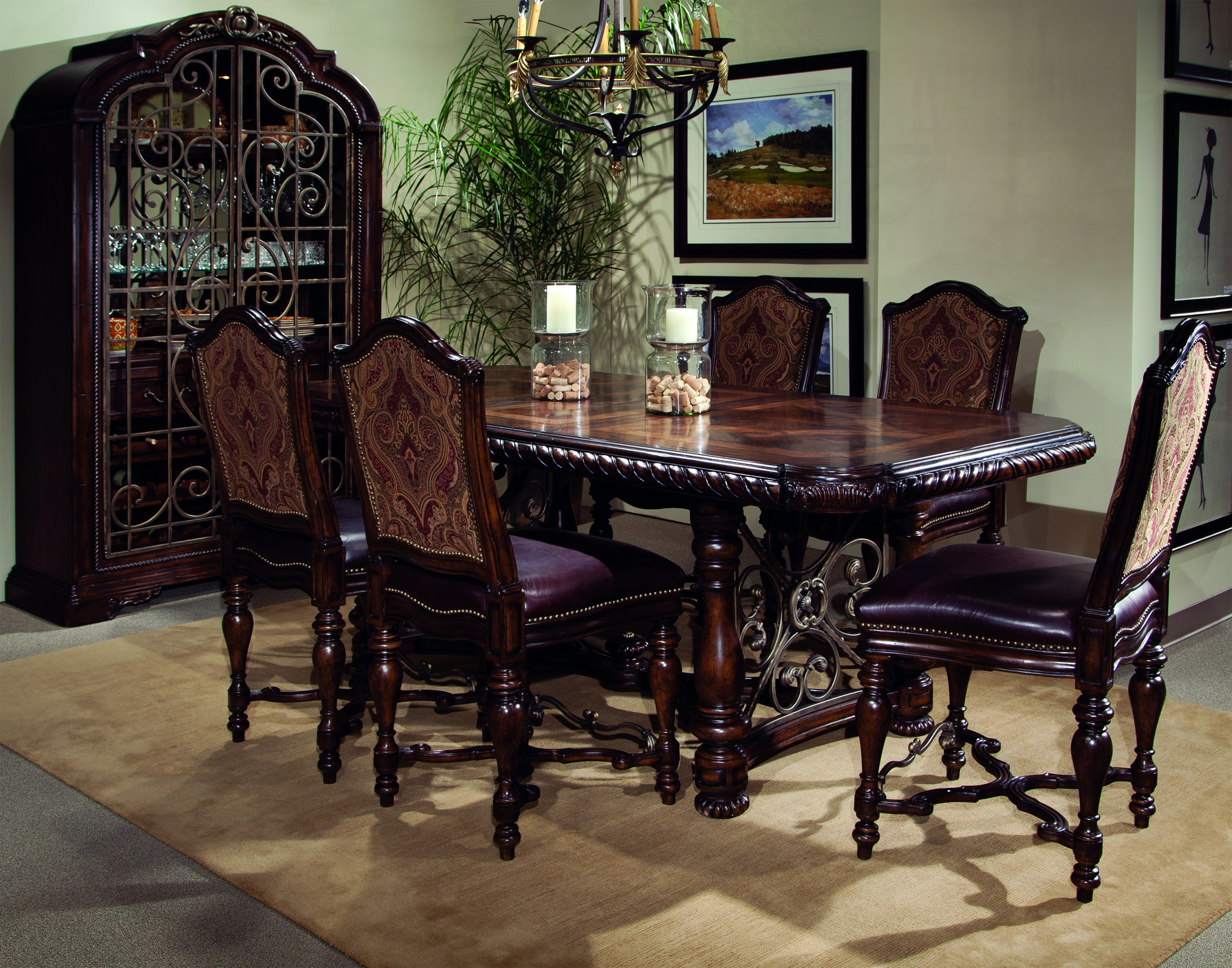 Lovely Valencia 5 Piece Gathering Height Dining Room Set