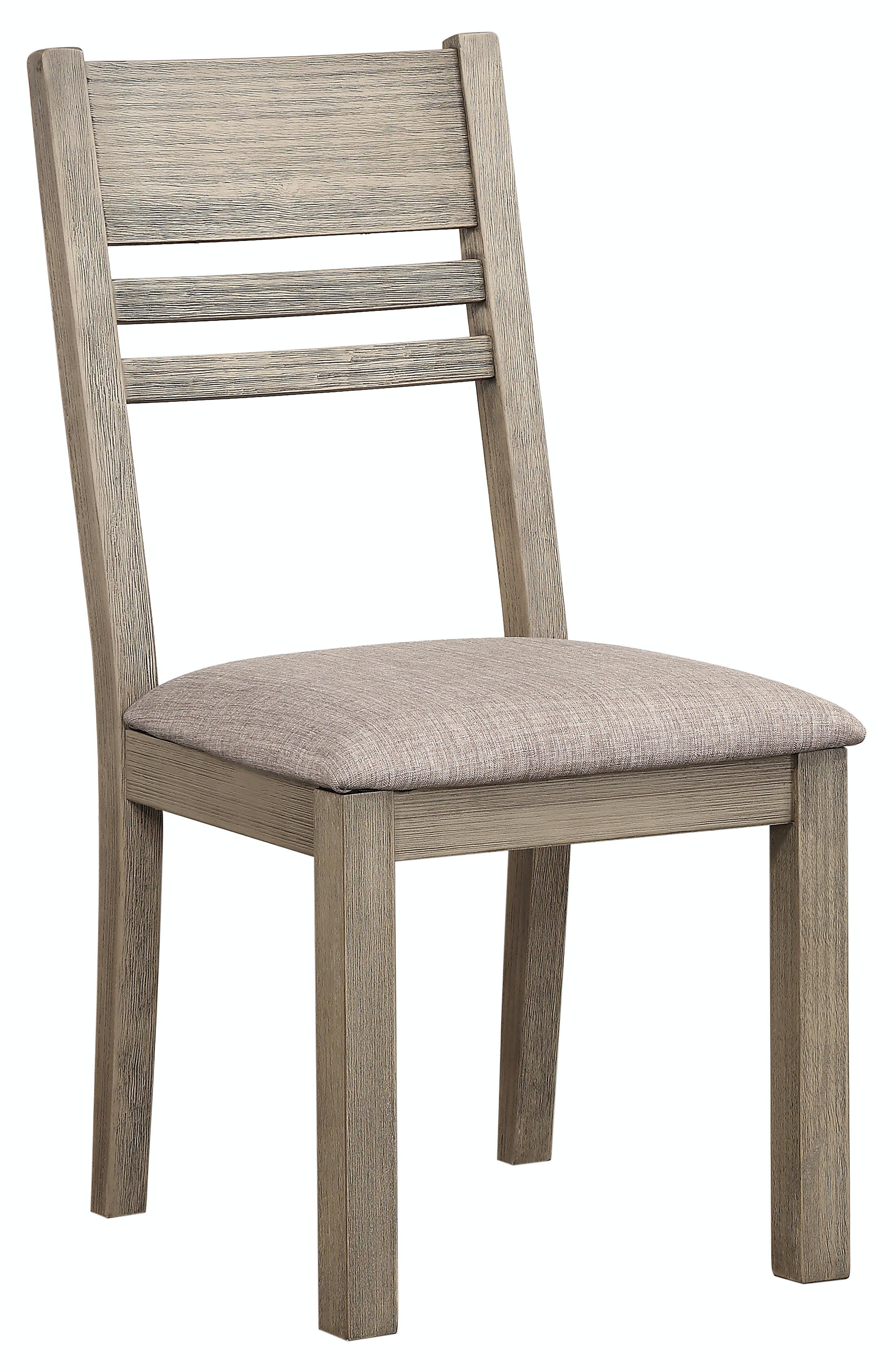 Easton Grey 5 Piece Dining Set: Includes Rectangle Table U0026 4 Ladder Back  Side