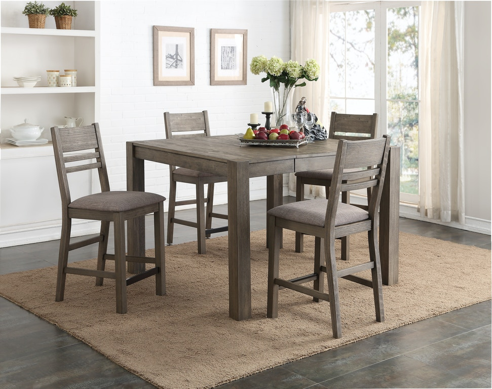 Dining Room Easton Grey 5 Piece Counter Height Dining Set