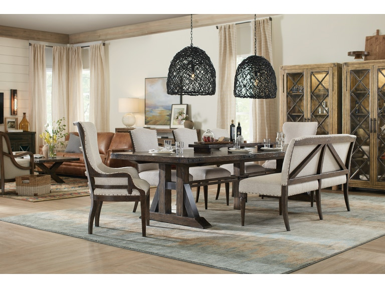 Roslyn County 5 Piece Rectangle Dining Room Set GPD493