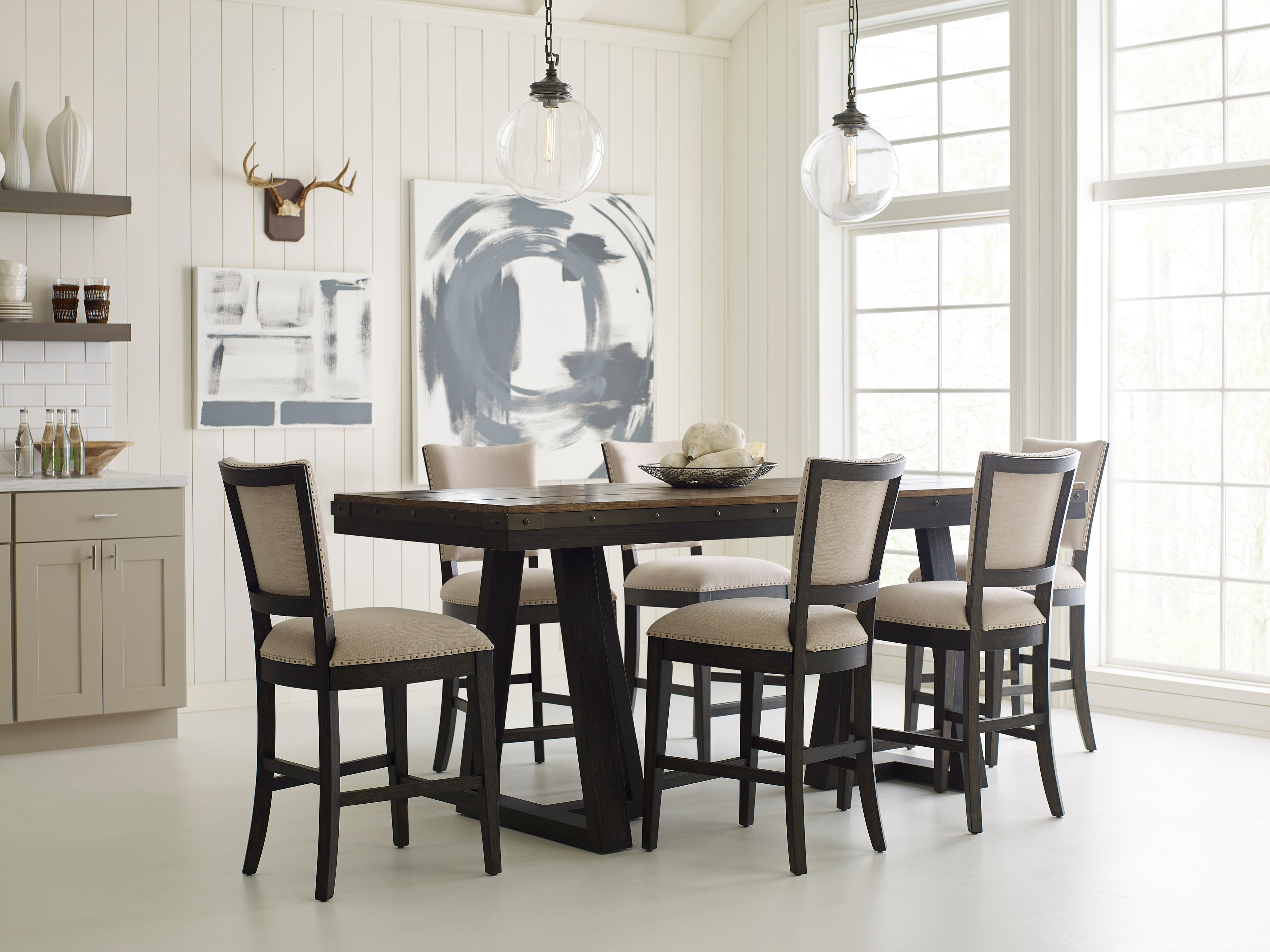 counter height dining table set. Plank Road 5-Piece Counter Height Dining Room Set: Includes Table \u0026 4 Chairs Set