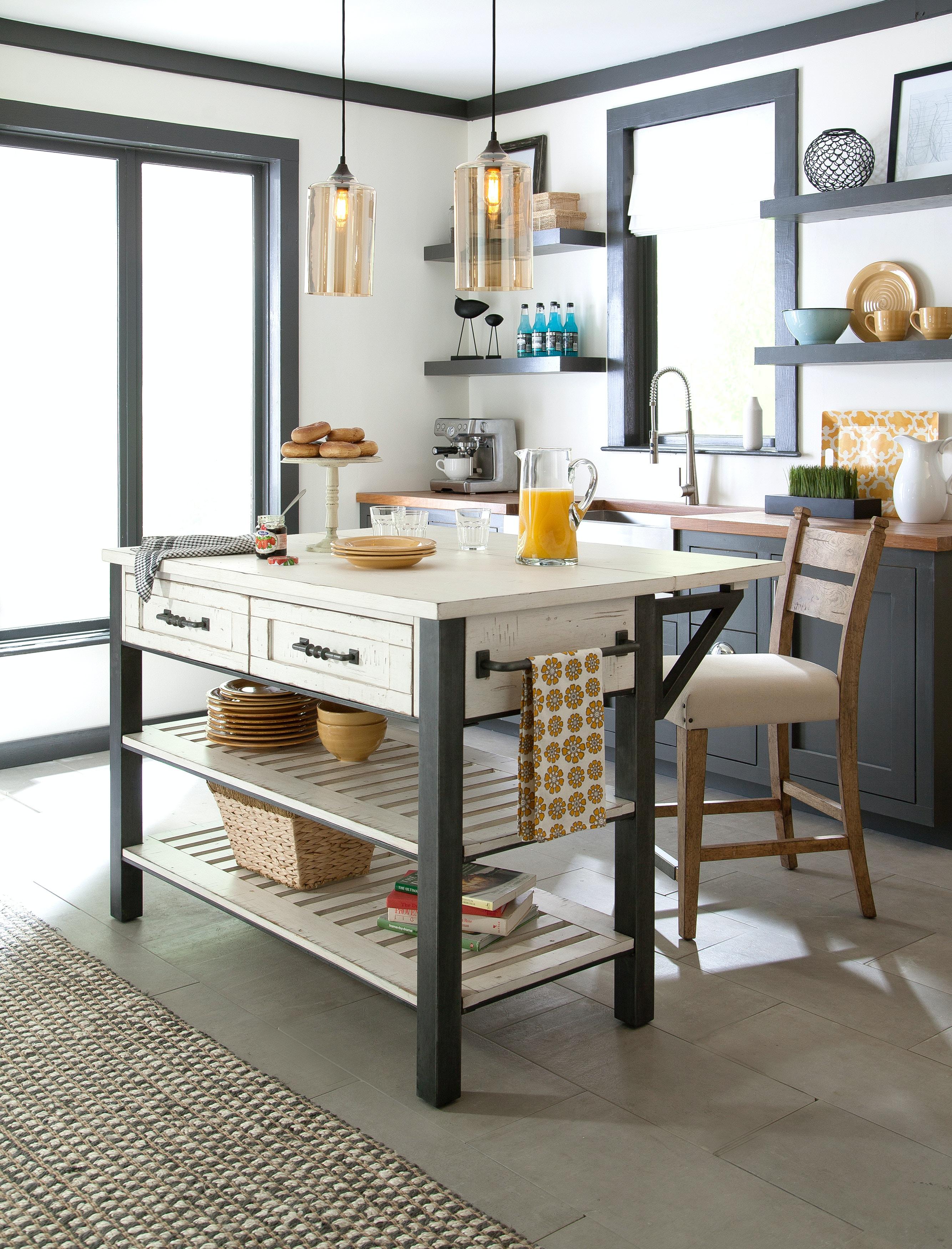 Trisha Yearwood Coming Home 3 Piece Kitchen Island Dining Room Set