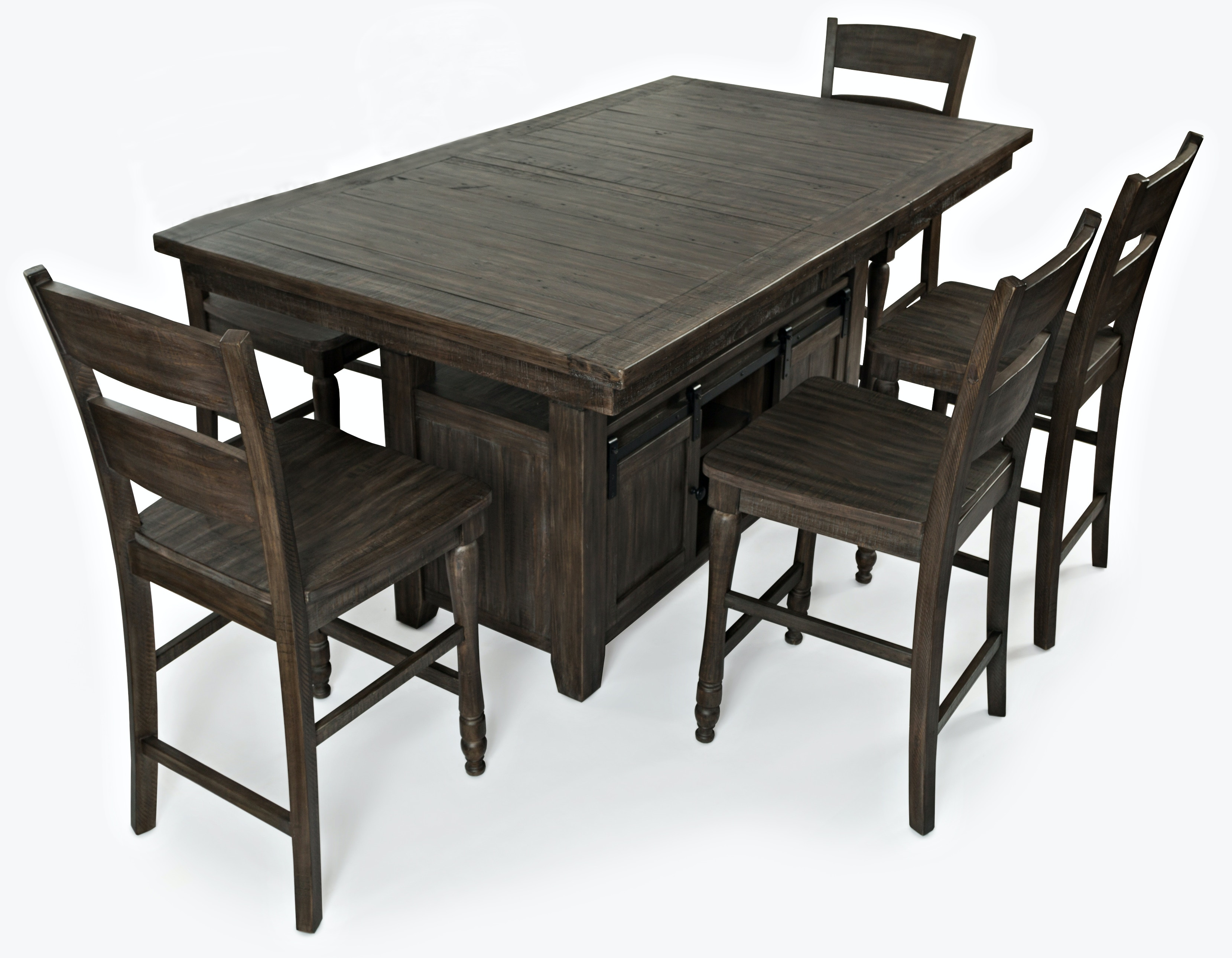 Ginger 5 Piece Counter Height Barnwood Dining Set GP:D581