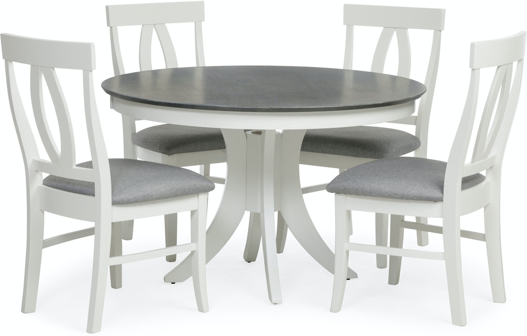 Dining Room Cosmopolitan 5 Piece Whitegrey Dining Set