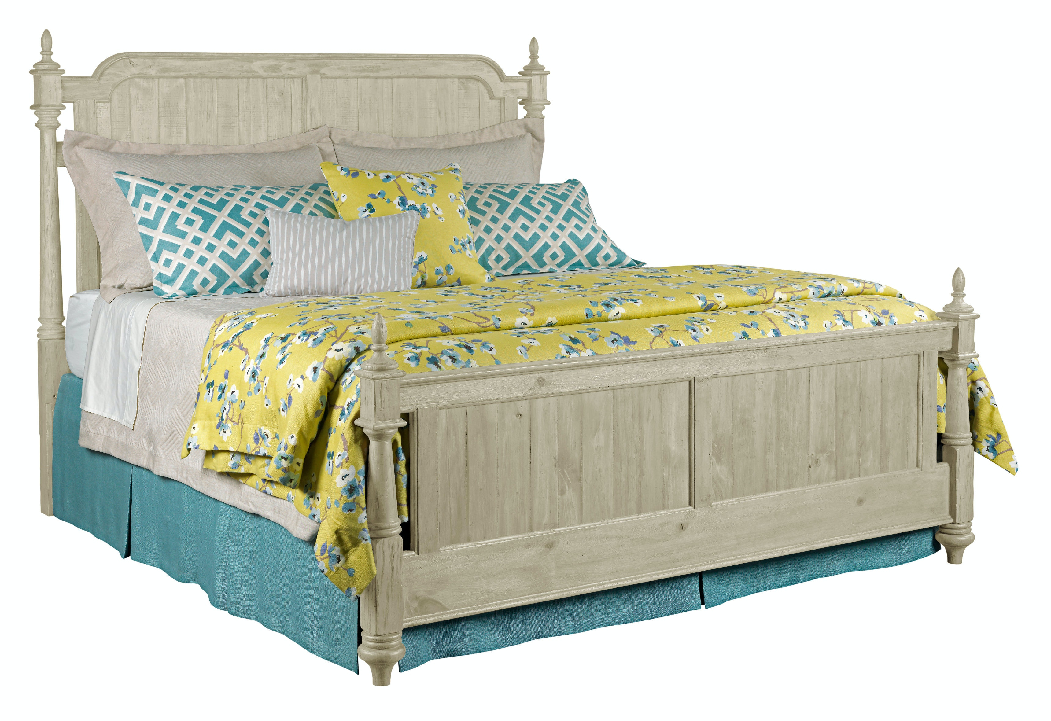 Weatherford Westland Panel Bed   CORNSILK   QUEEN KT:18598