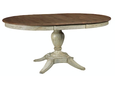 Weatherford Milford Round Dining Table - CORNSILK
