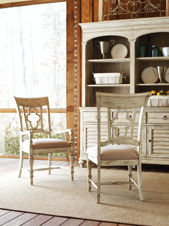 Dining Room Weatherford Wood Back Arm Chair Cornsilk