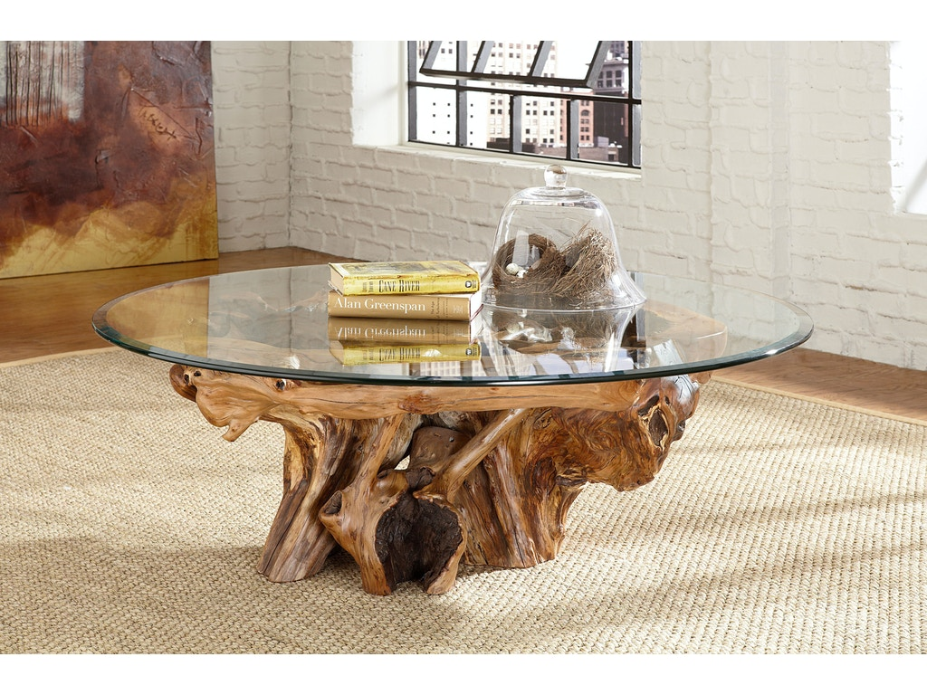 Living room arboles round glass top root ball cocktail table arboles round glass top root ball cocktail table kt34066 geotapseo Image collections