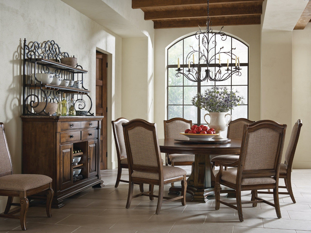 dining room portolone stellia 72 round pedestal table