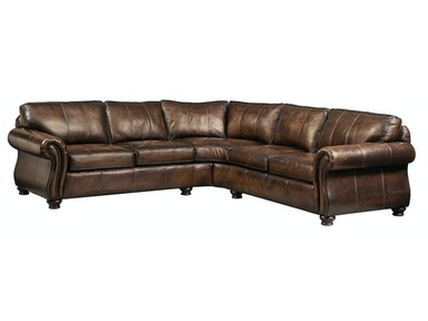 Van Gogh 2-Piece Leather Sectional