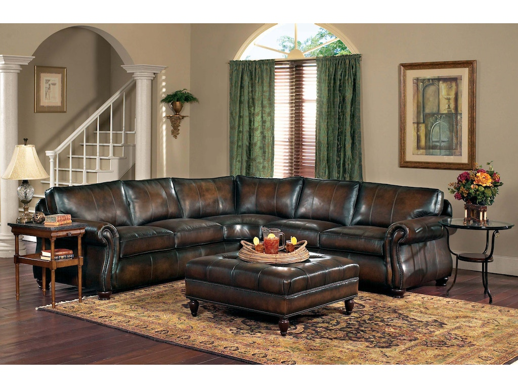 Leather Sectional Living Room Living Room Van Gogh 2 Piece Leather Sectional