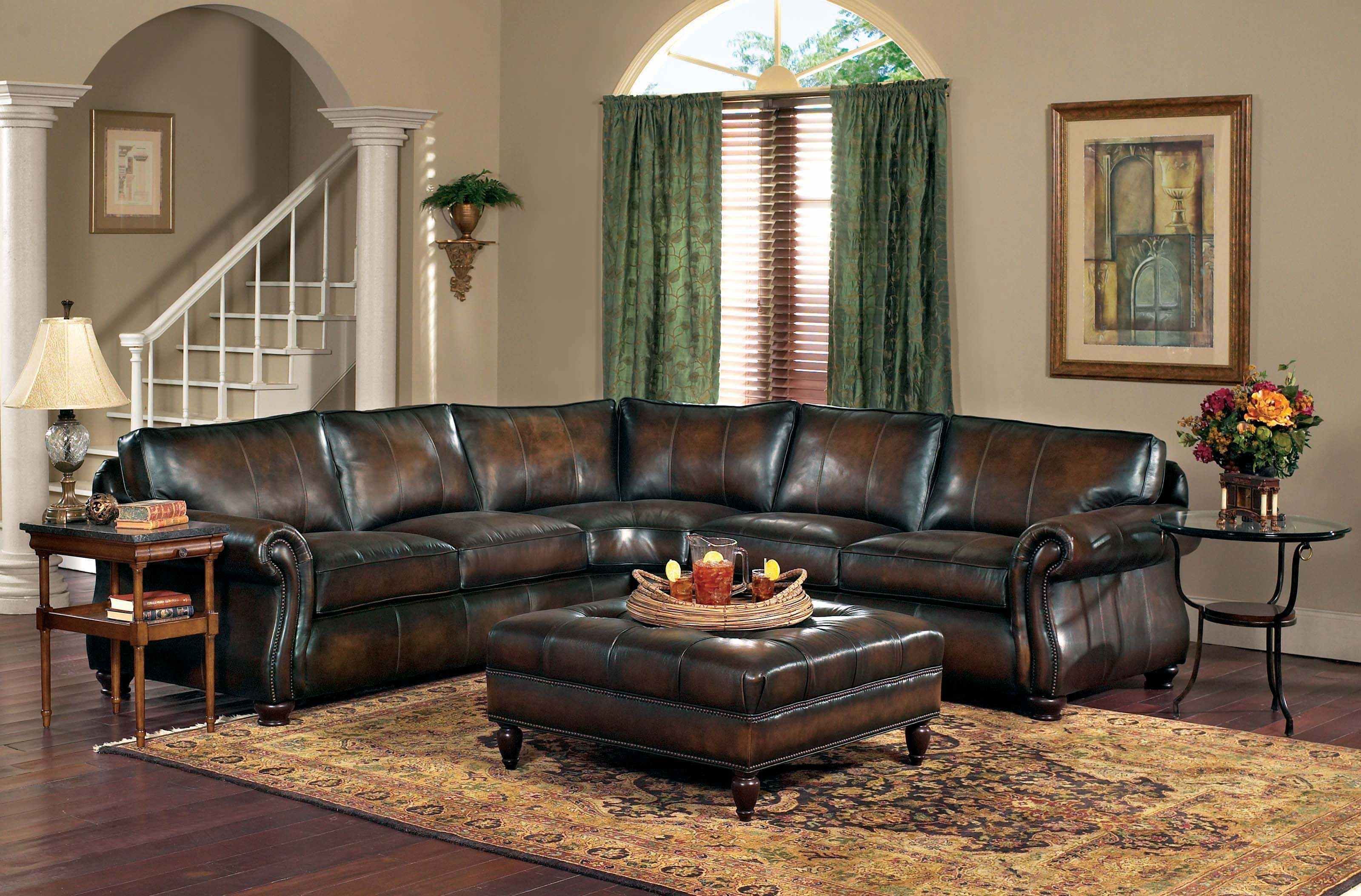 Ordinaire Van Gogh 2 Piece Leather Sectional KT:37184