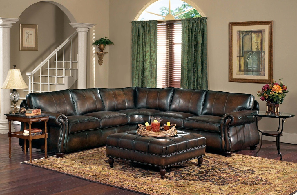 Living Room Van Gogh 2 Piece Leather Sectional