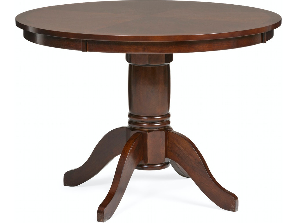 Dining room madera 42 round dining table espresso finish for Dining room tables 42 round