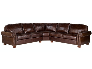Benjamin 3-Piece Leather Sectional