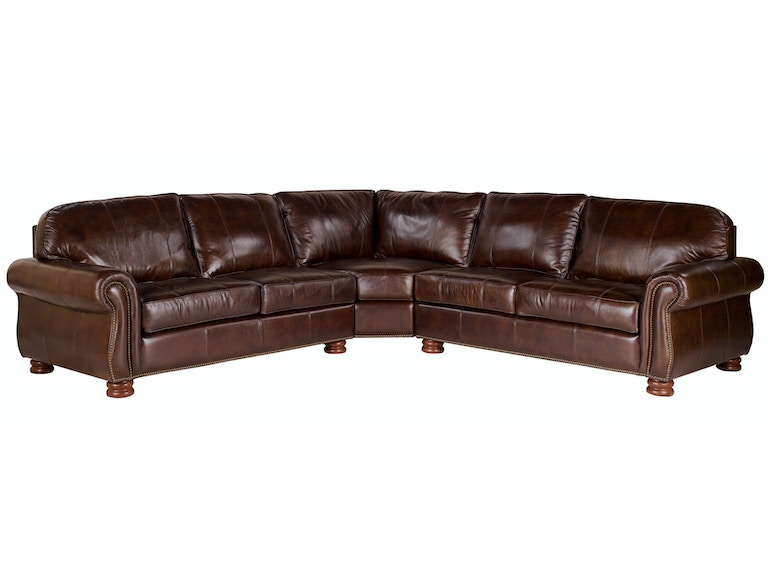 Thomasville Leather Sofa Living Room Benjamin 3