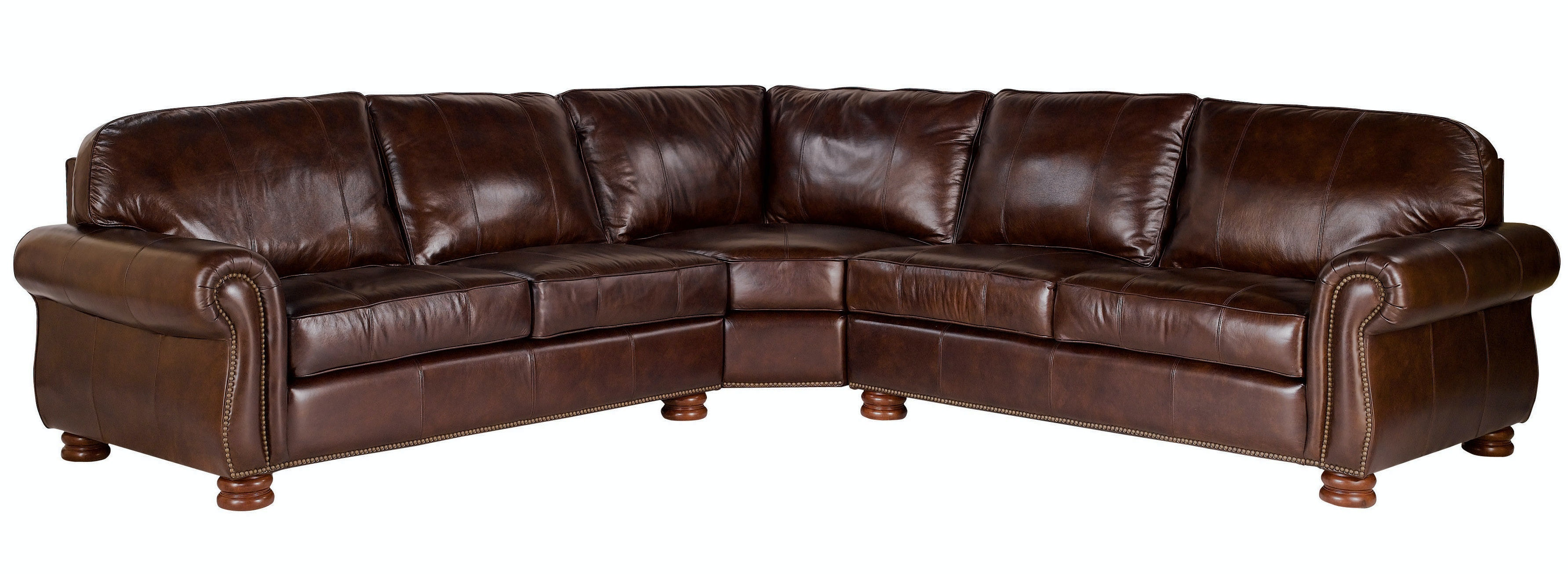 benjamin 3piece leather sectional kt42960