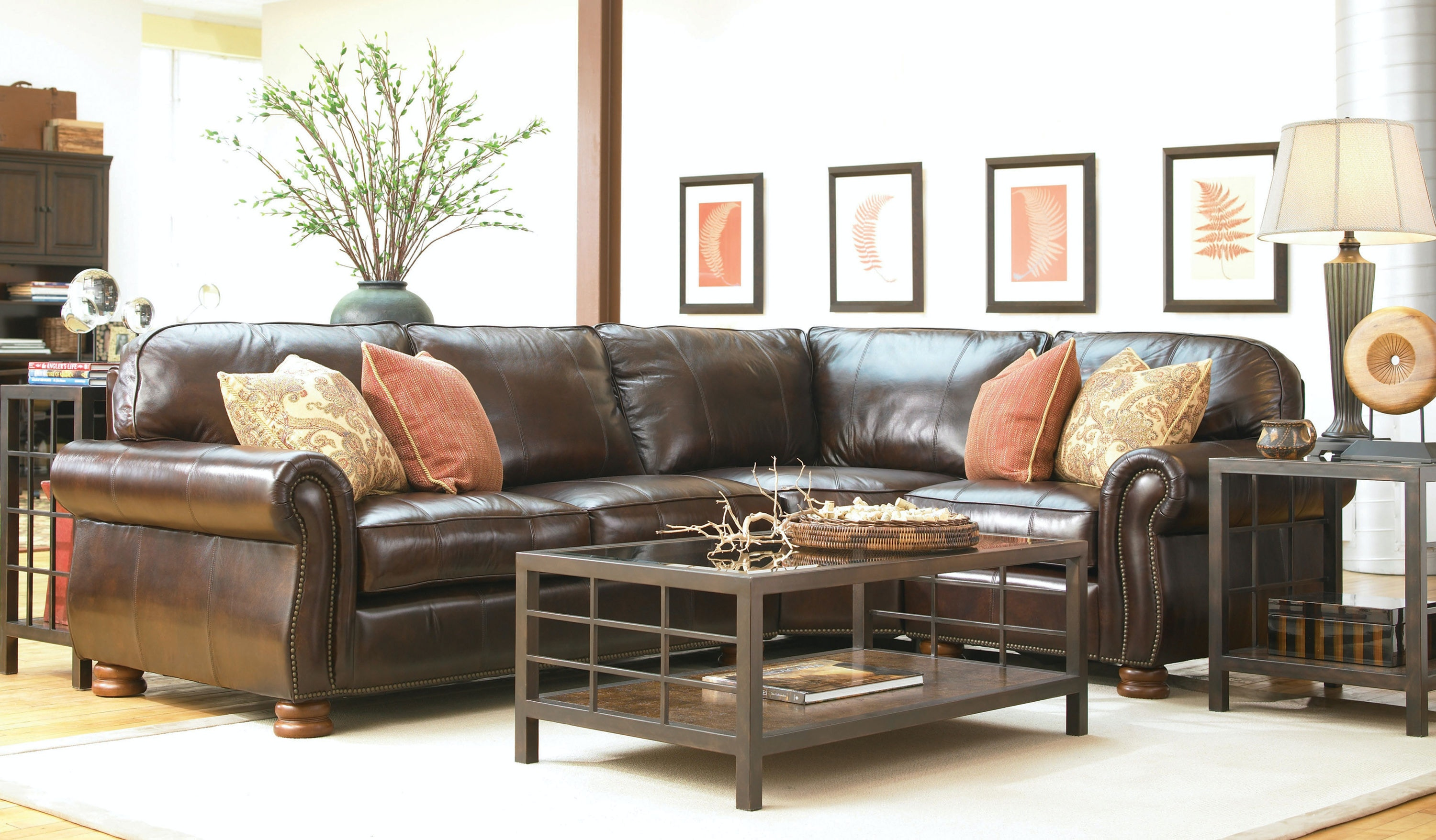 Benjamin 3 Piece Leather Sectional KT:42960