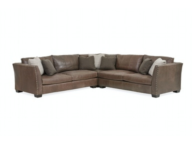 Brinton 3-Piece Leather Sectional