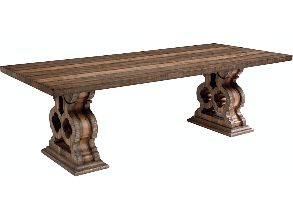 magnolia home  double pedestal dining table kt. dining room magnolia home  double pedestal dining table